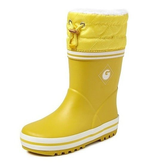 Kinderlaars gevoerd Groovy geel