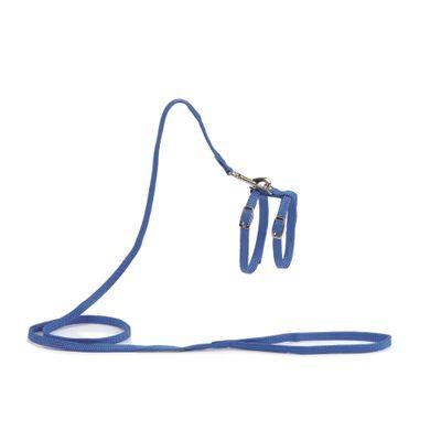 Foto van Kattentuig met 130cm looplijn blauw Beeztees