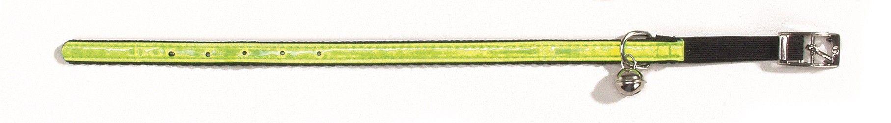 Kattenhalsband reflecterend nylon Beeztees geel