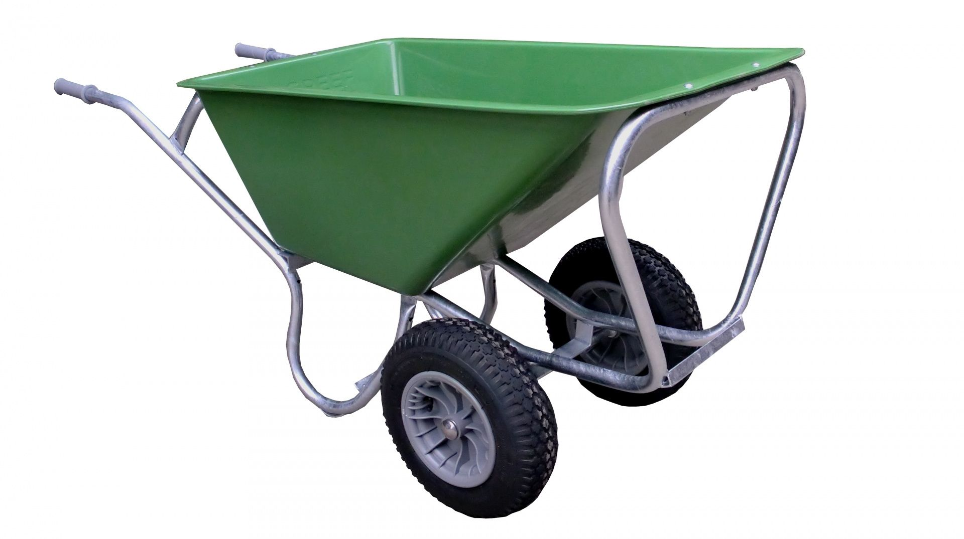 Stal kruiwagen Hummer Pro groen 160 ltr 2 wielen