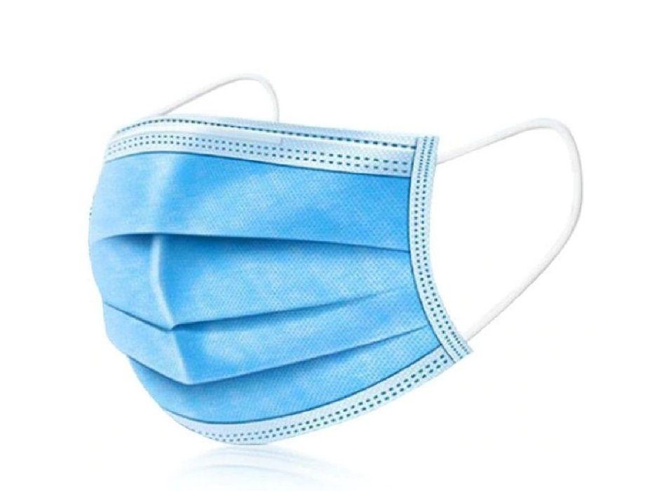Mondmasker / Hygiënemasker blauw 50 stuks