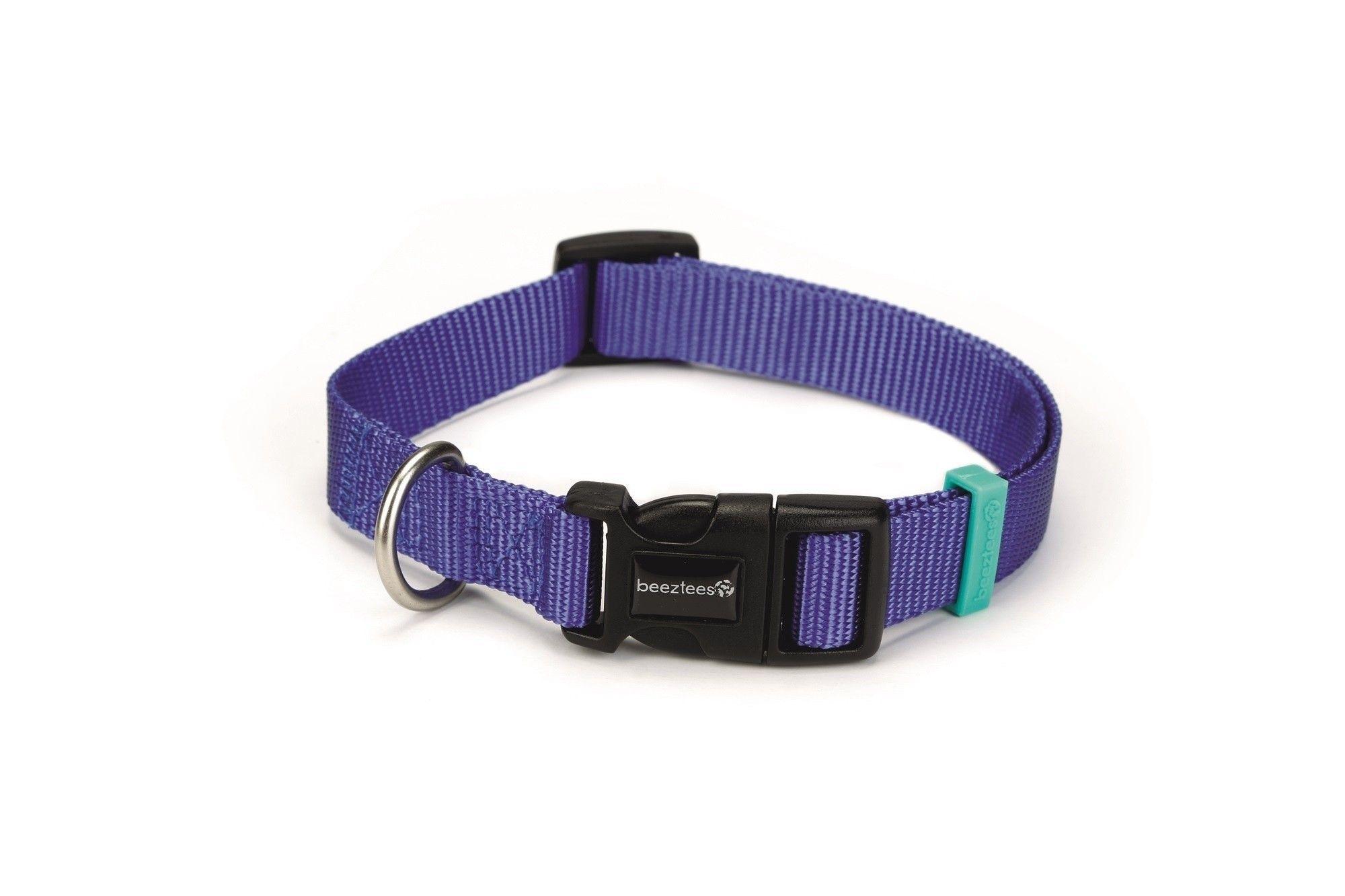 Hondenhalsband Uni nylon Beeztees blauw