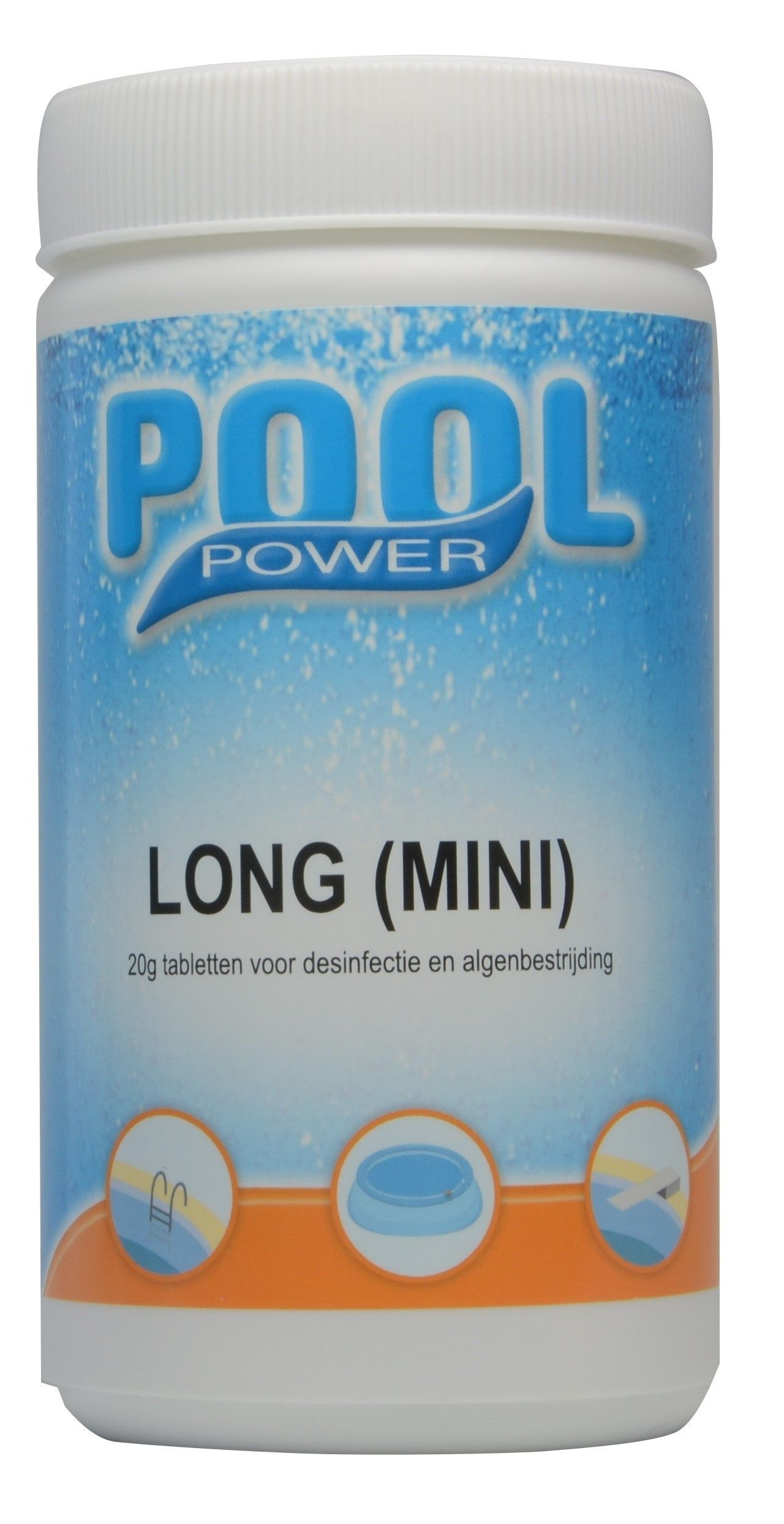Pool Power long mini zwembad chloortabletten 1kg