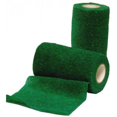 Foto van Zelfklevende bandage Equilastic 10cm groen
