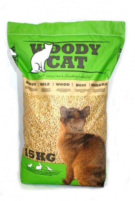 Woody Cat kattenbakvulling 15kg