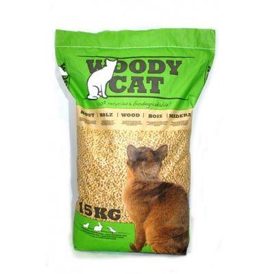 Foto van Woody Cat kattenbakvulling 15kg