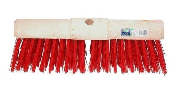 Bezem FSC kunststof rood 45cm