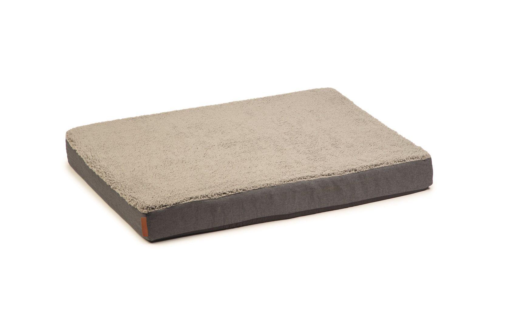 Beeztees Zira Orthopedisch Hondenkussen grijs 75x50cm