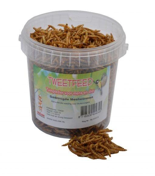 Gedroogde meelwormen 1 ltr