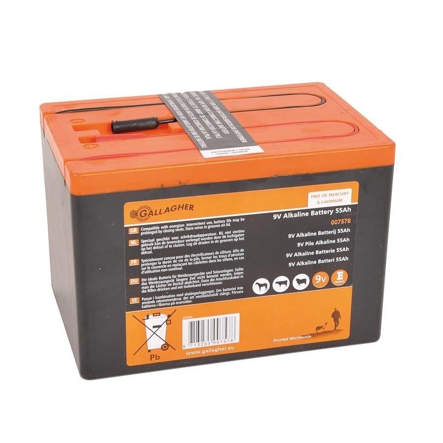 Gallagher Powerpack 9V batterij 55Ah