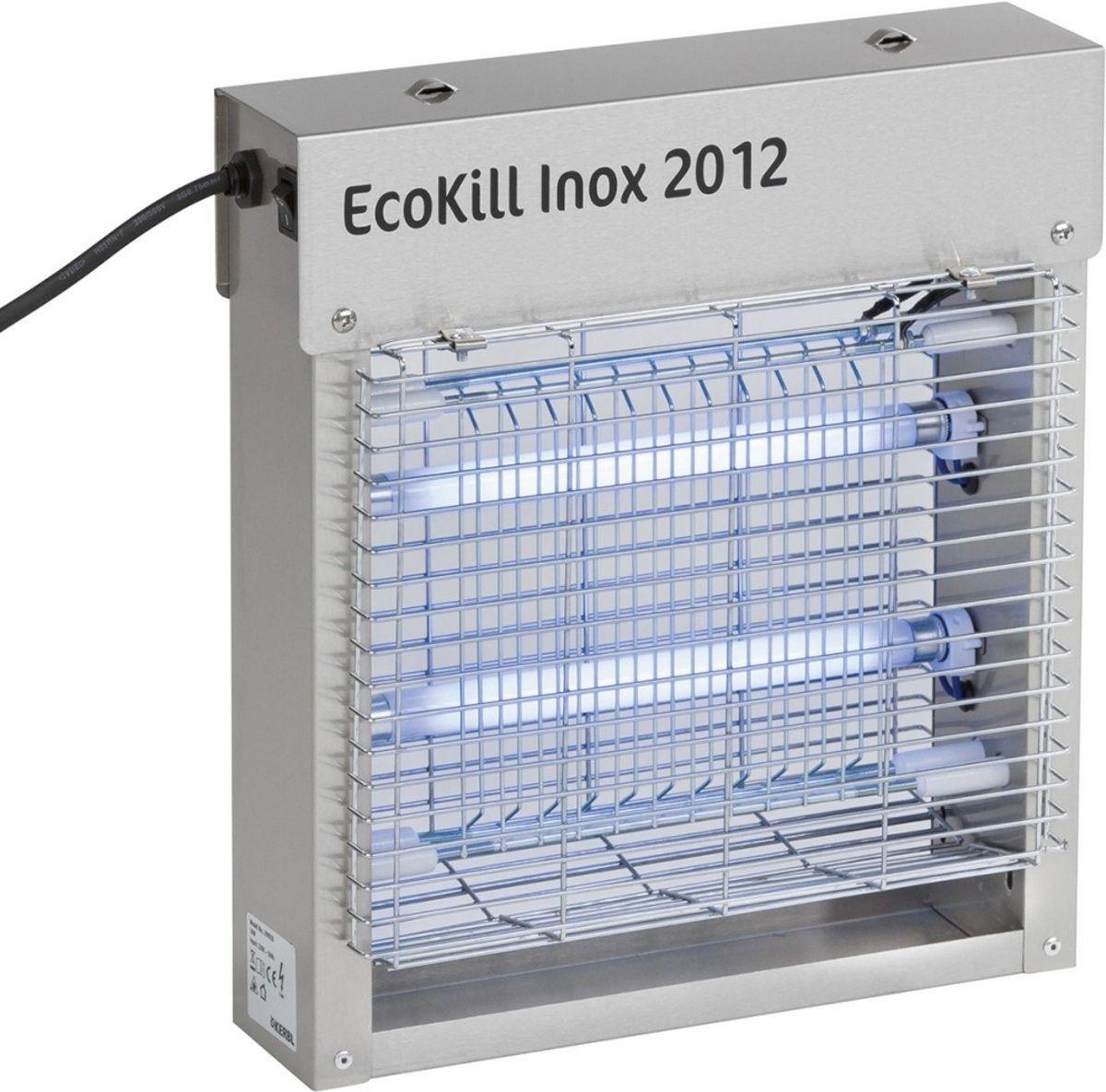 Ecokill Inox 2012 elektrische vliegenvanger (2x6Watt)