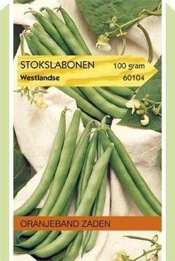 Stokslabonen Westlandse 100 gram Oranjeband