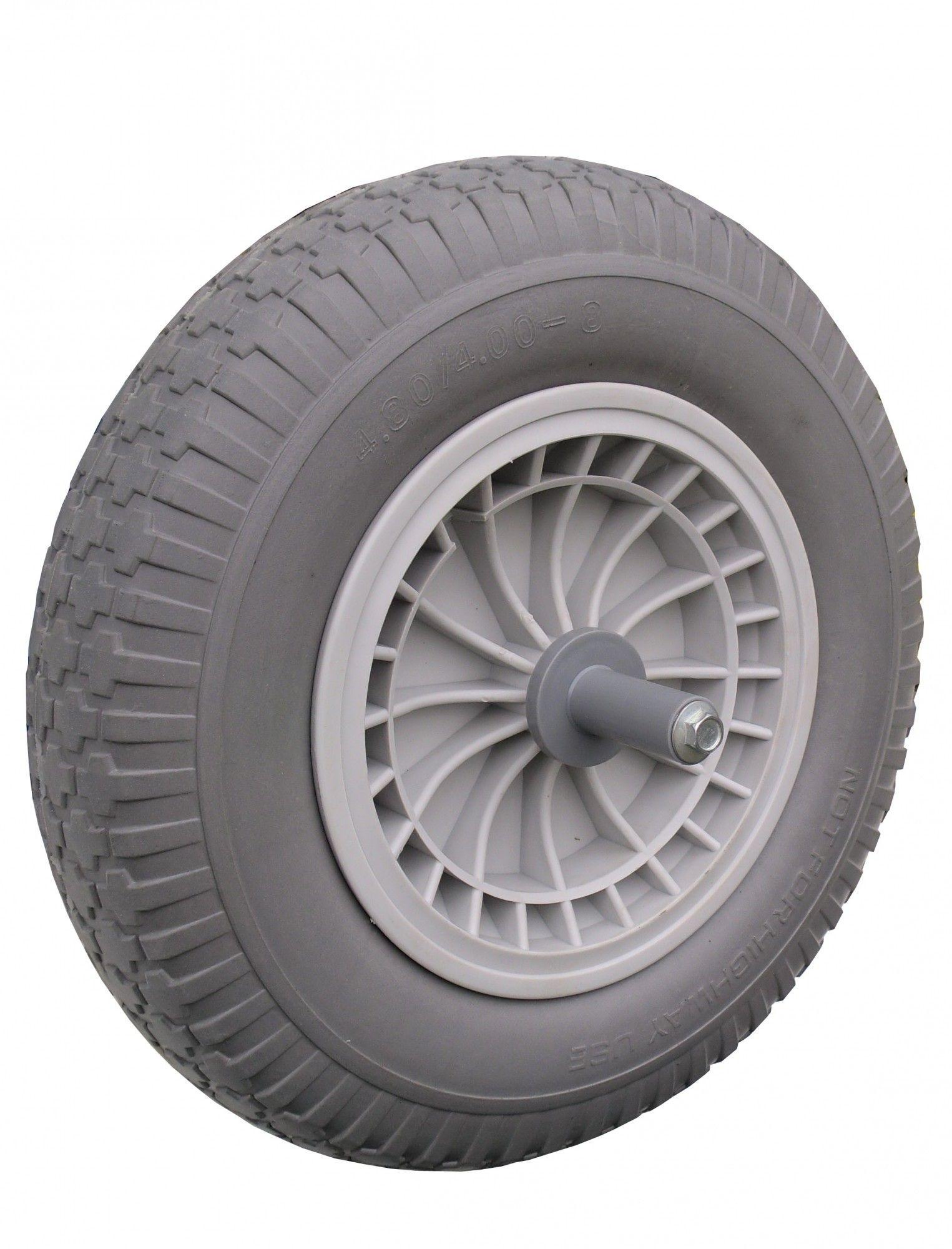 Kruiwagen wiel anti lek met 20cm as