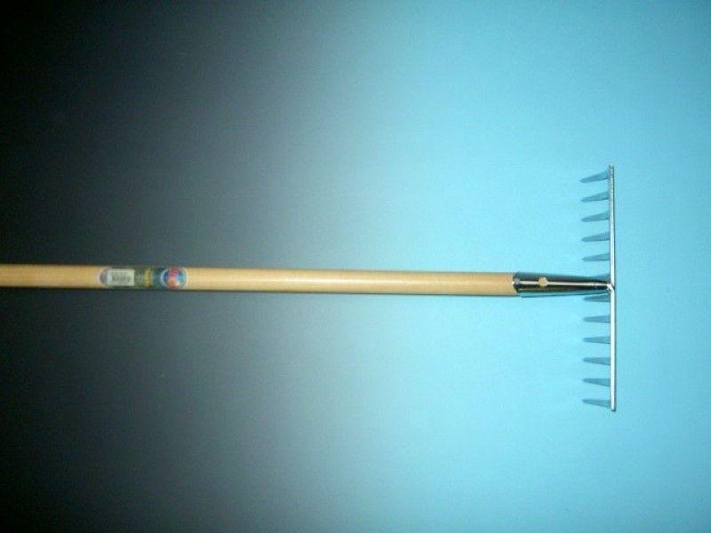 Tuinhark verzinkt 10 tands met steel 150cm
