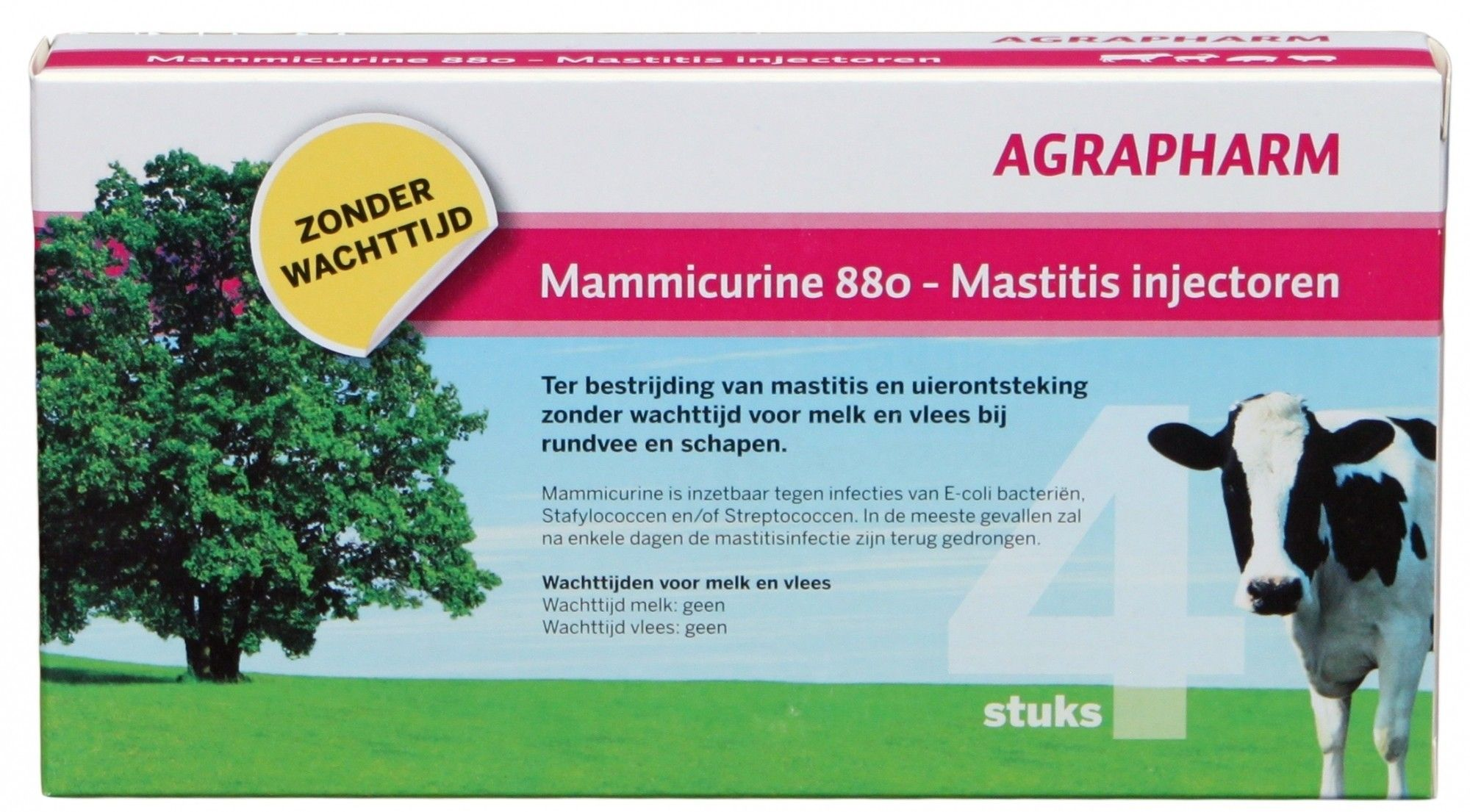 Mammicurine-880 mastitis injectoren 4 stuks