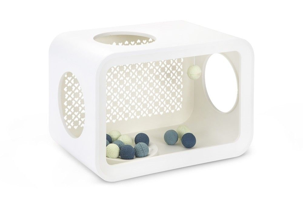 Beeztees Cat Cube Play Angora White 49