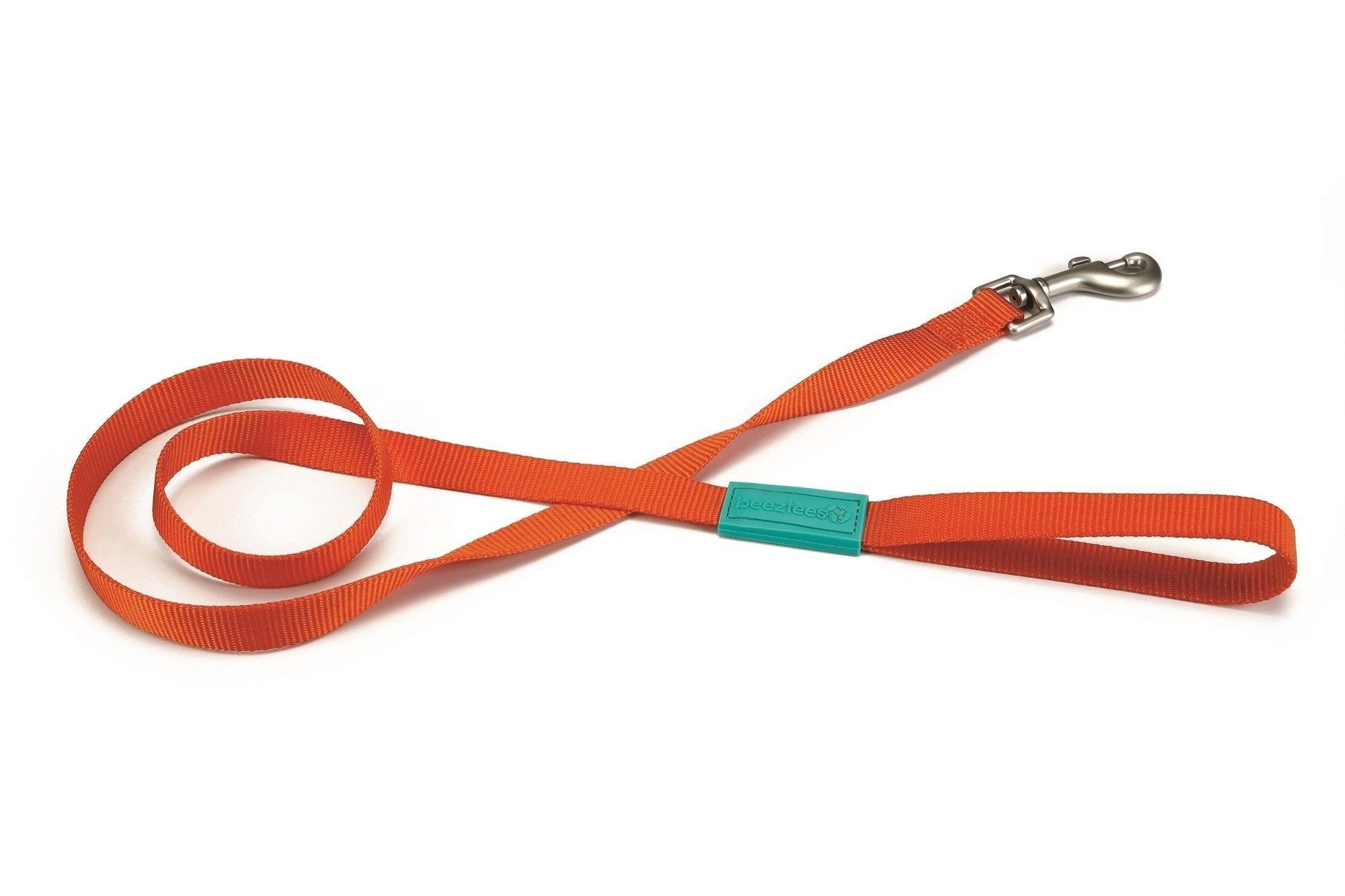 Beeztees hondenriem / looplijn Uni nylon oranje
