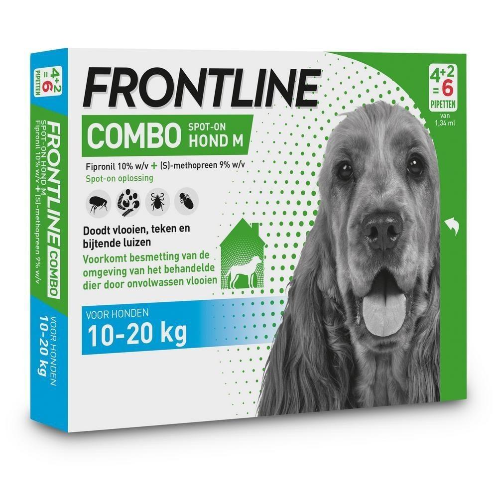 Frontline Combo spot on Hond Medium 10-20kg 6 pipet