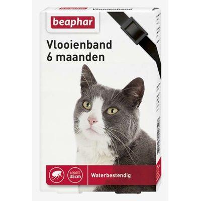 Foto van Beaphar vlooienband kat zwart