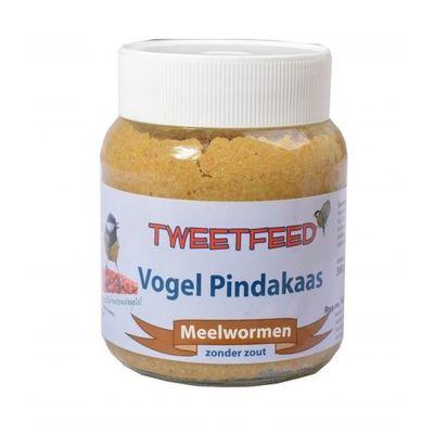 Foto van Vogelpindakaas Tweedfeed met meelwormen 360gr 12 stuks