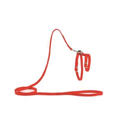 Foto van Kattentuig met 130cm looplijn rood Beeztees