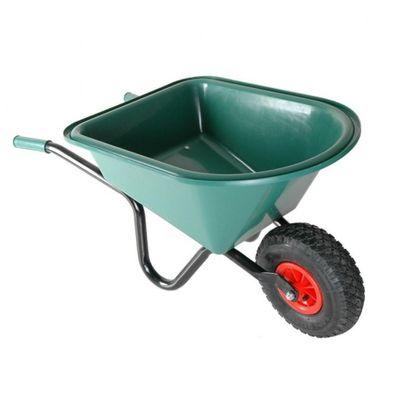 Foto van Kinderkruiwagen met groene kunststof bak