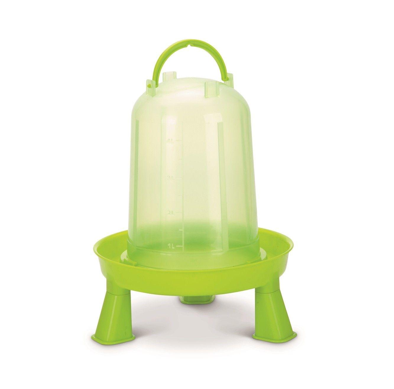 Kippen drinktoren op pootjes 3ltr groen