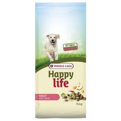 Foto van Happy Life hondenvoer Adult Lamb 15kg