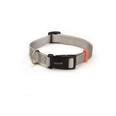 Foto van Hondenhalsband Uni nylon Beeztees lichtgrijs