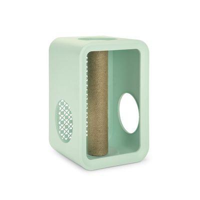 Foto van Beeztees Cat Cube Scratch Mellow Mint 49