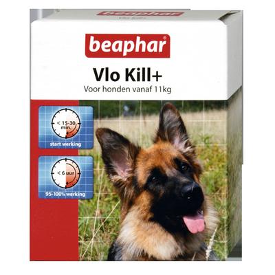 Foto van Beaphar vlo kill+ hond vanaf 11kg