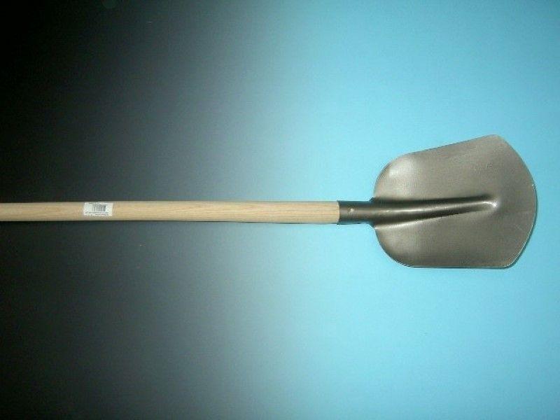 Schepbats 1/2 0 grijs gelakt met 110cm essen steel