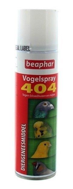 Vogelspray 404 tegen bloedluis en insecten 250ml