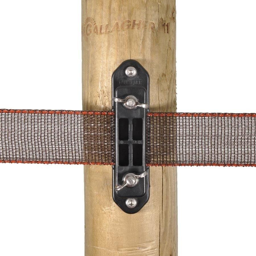 Gallagher TurboLine hoekisolator voor lint met vleugelmoer (5 stuks)