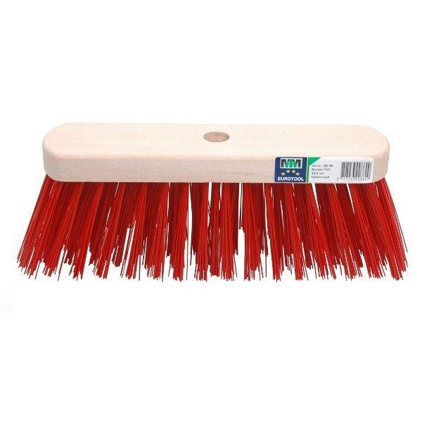 Bezem FSC kunststof rood 29cm