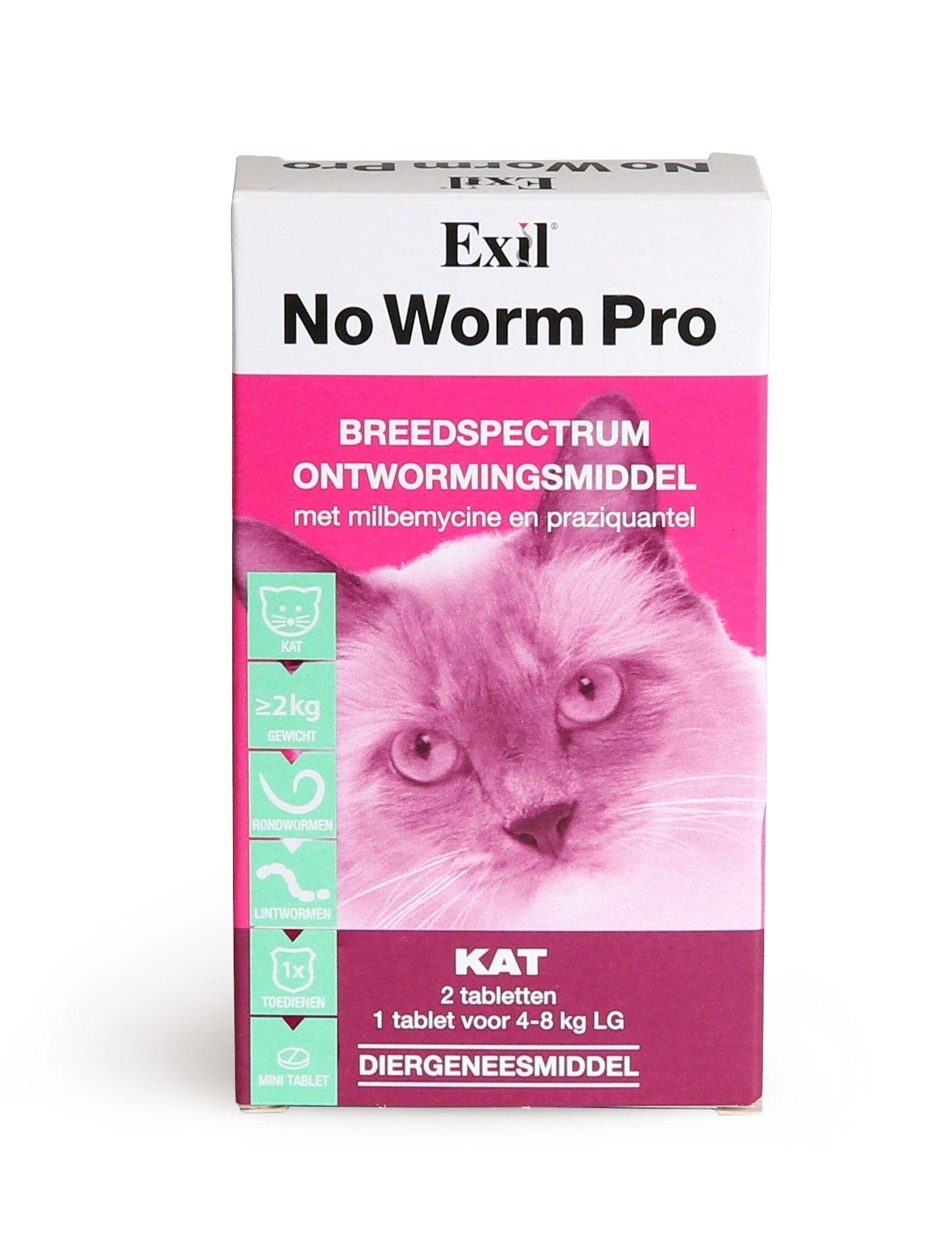 No Worm pro wormtabletten kat 2 stuks