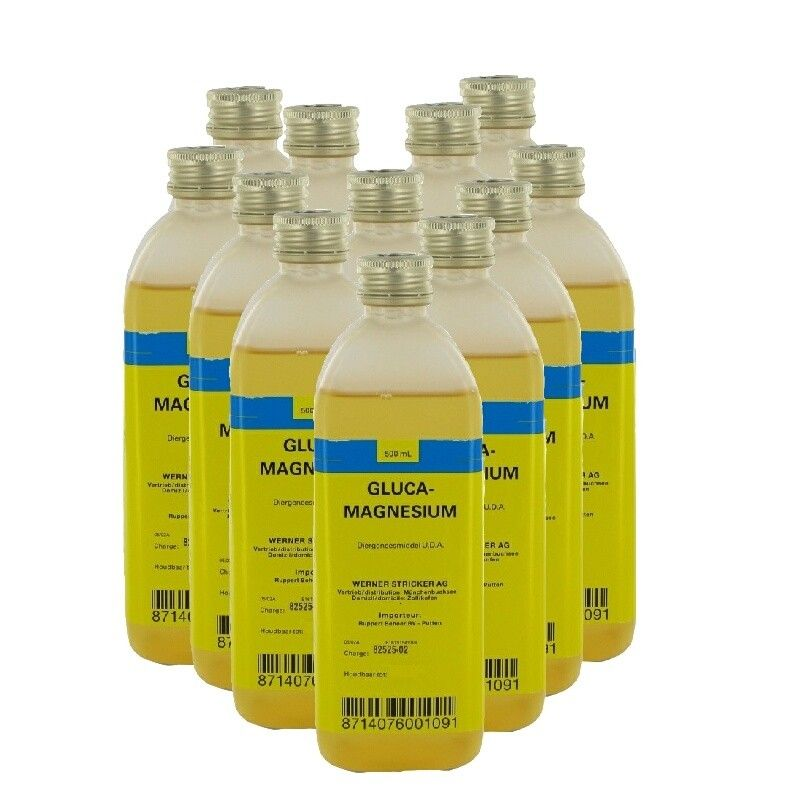 Glucamagnesium melkziekte infuus 500ml 12 stuks