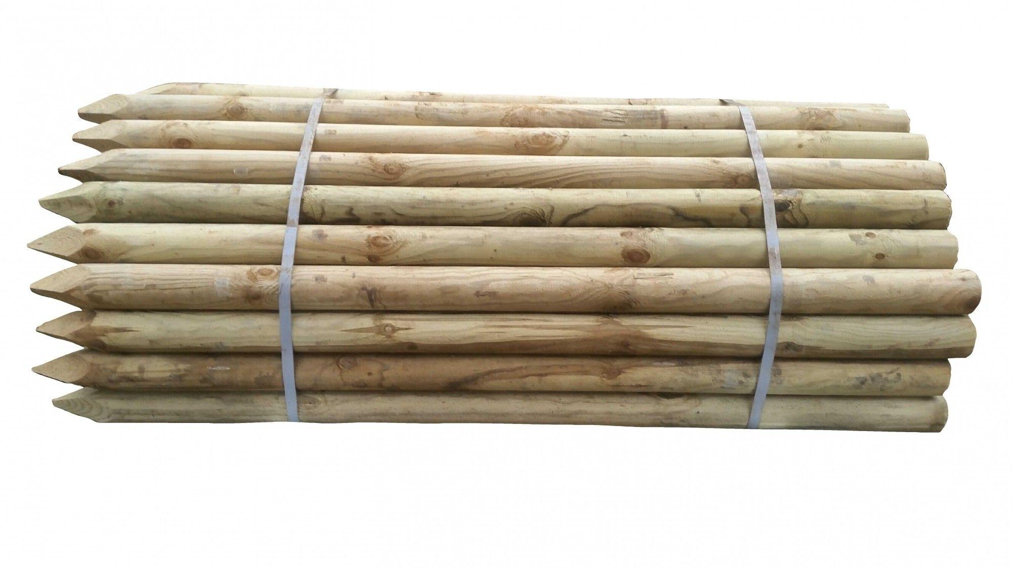 Houten paal Celfix geimpregneerd 200 x 10cm rond gefreesd