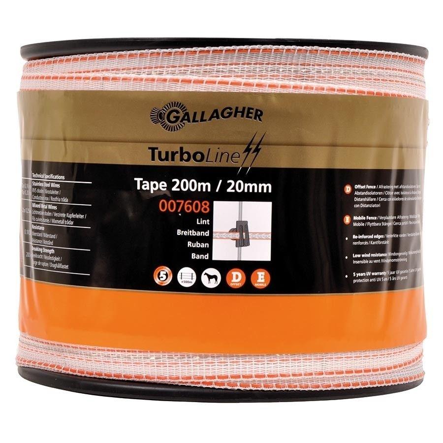 Schriklint Gallagher TurboLine 20mm wit 200mtr
