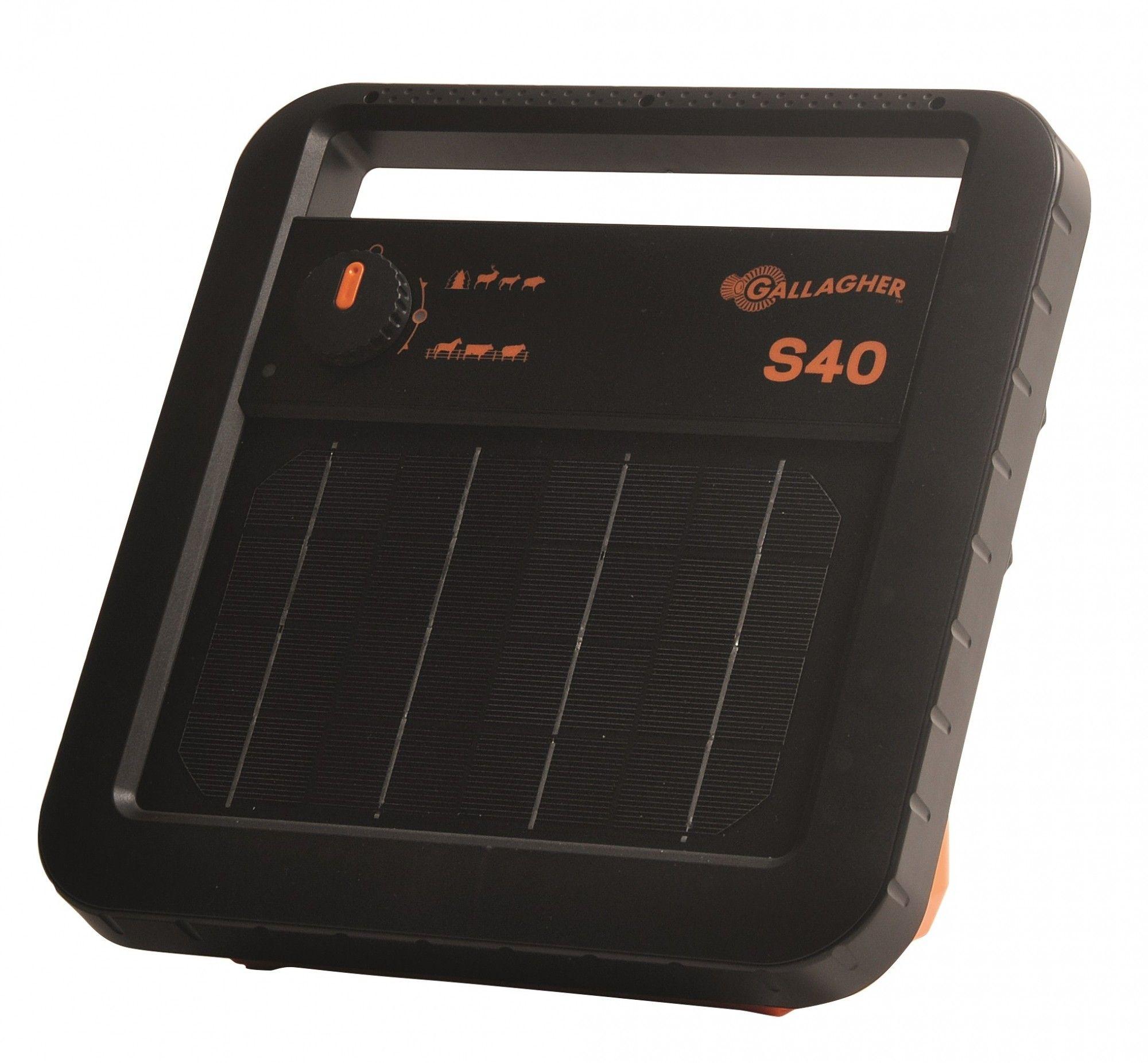 Schrikdraadapparaat Gallagher S40 solar (zonne-energie) inclusief accu.