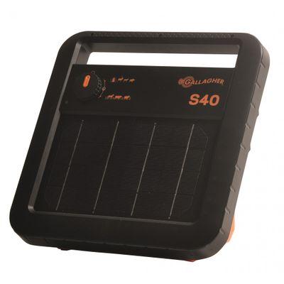 Foto van Schrikdraadapparaat Gallagher S40 solar (zonne-energie) inclusief accu.