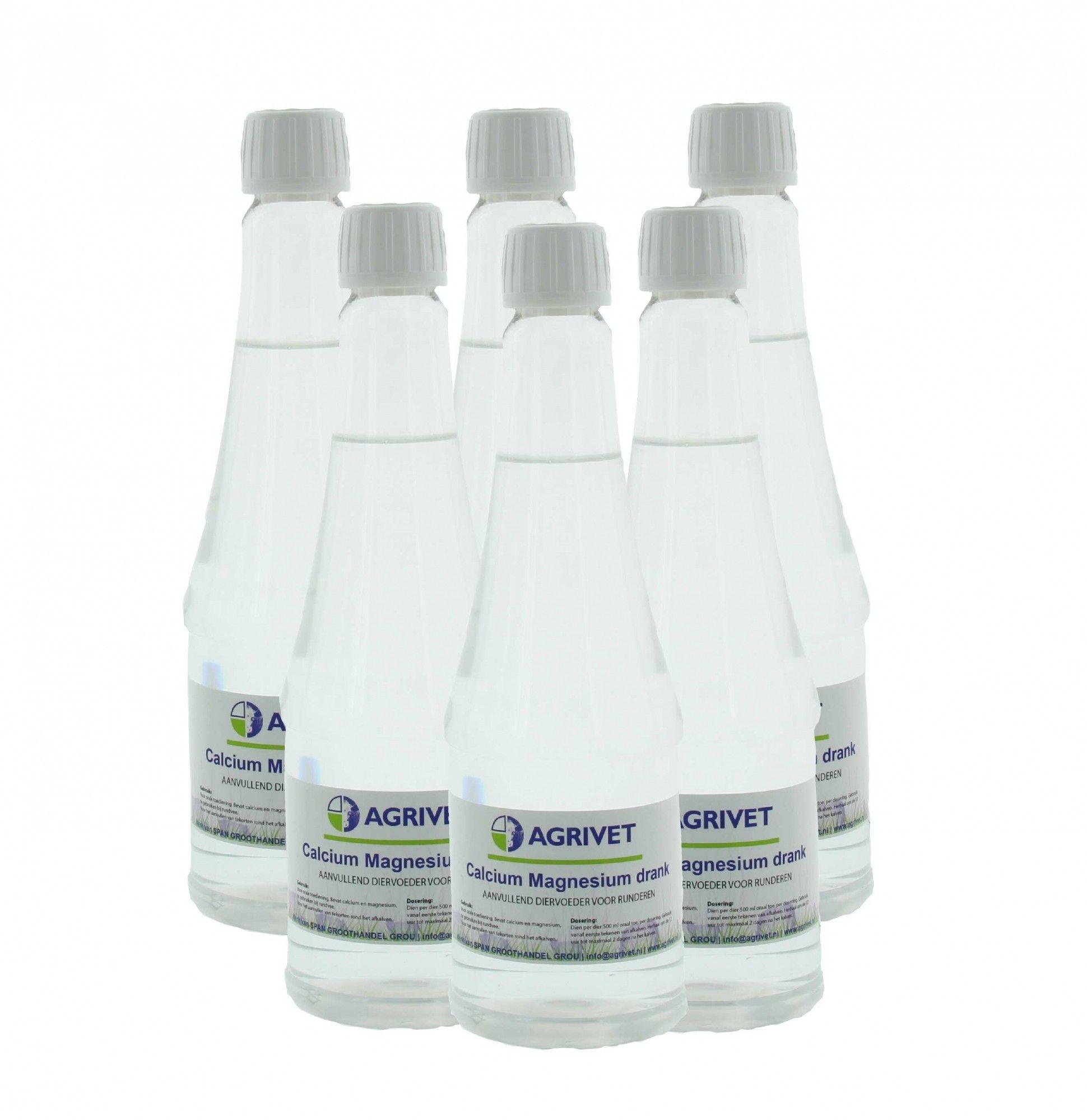 Calcium-magnesium drank Agrivet 500ml 6 stuks
