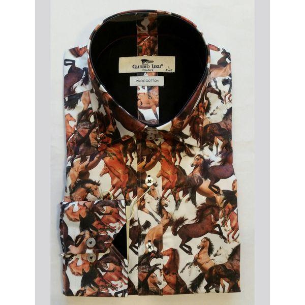 Overhemd Paarden print