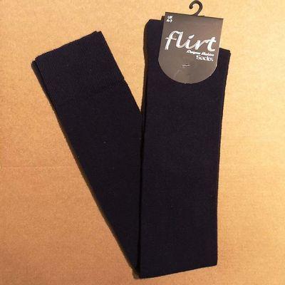 Flirt | Overknee sokken donkerblauw