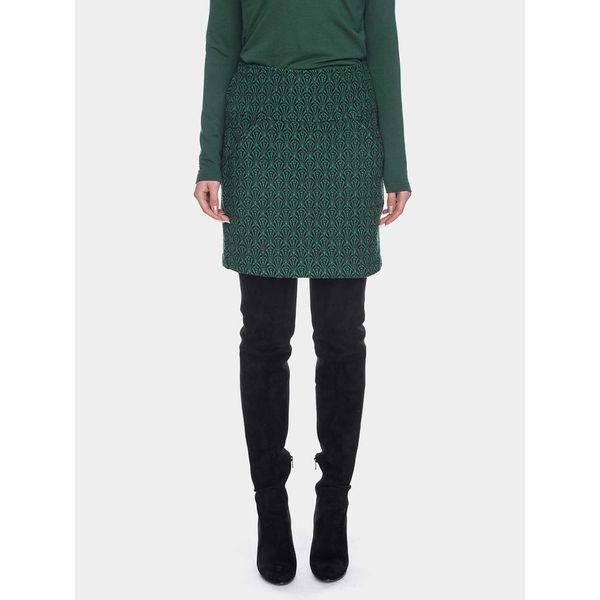 ATO Berlin | rok Hilly groen jacquard, brede tailleband en zakken