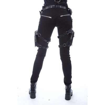 Foto van Vixxsin | Skinny jeans Verity zwart met harnassen