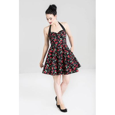 Foto van Hell Bunny   Mini jurk Cherry Pop, zwart met rode kersen