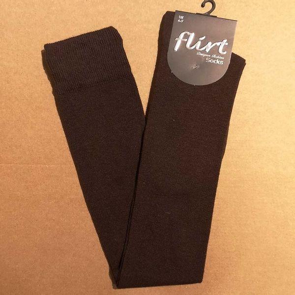 Flirt   Overknee sokken bruin