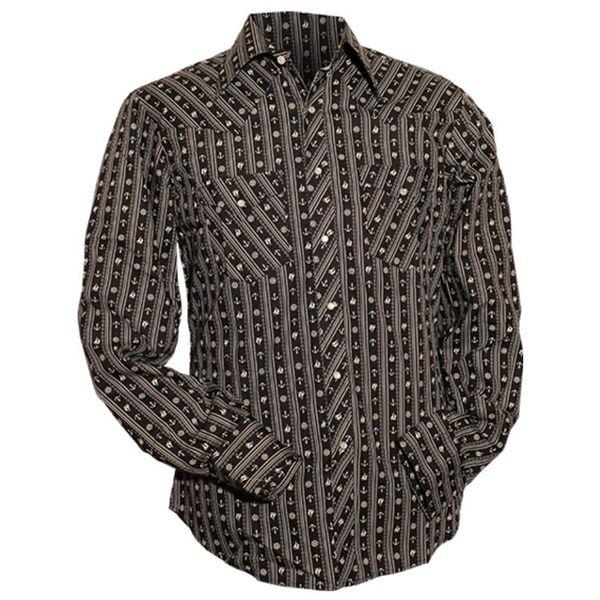 Chenaski | Cowboy overhemd zwart wit Anchors & Chains