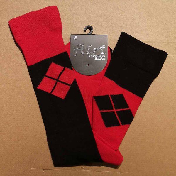 Flirt | Overknee sokken Harlequeen zwart met 4 cubes